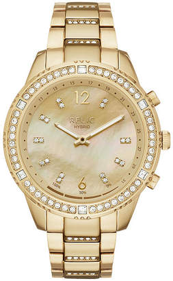 Fossil RELIC BY Relic By Eliza Womens Gold Tone Stainless Steel Smart Watch-Zrt1001