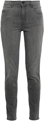 J Brand Maria Faded High-rise Skinny Jeans