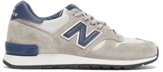 New Balance Made In Uk 670 Suede And Mesh Trainers - Beige Navy