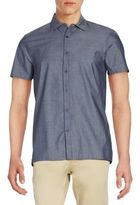 Vince Camuto Chambray Short-Sleeve Sportshirt