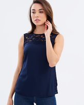 Dorothy Perkins Lace Mix Shell Top