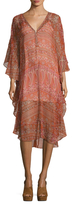 Calypso St. Barth Rokia Silk Printed High Low Dress
