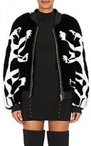 Balmain Women's Rabbit Fur Bomber Jacket