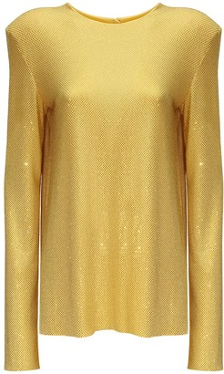 Alexandre Vauthier Crystal Embellished Top W/ Open Back