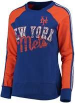 G Iii Women's G-III 4Her by Carl Banks Royal/Orange New York Mets Perfect Pitch Pullover Sweatshirt