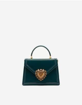 Dolce & Gabbana Medium Devotion Bag In Polished Calfskin