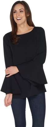 Linea by Louis Dell'Olio Pullover Blouse with Sleeve Detail