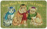 """Bacova You Had Me at MEOW"""" 17.5-INch x 29-Inch Kitchen Mat in Green"""