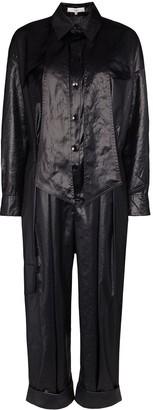 Tibi draped utility jumpsuit