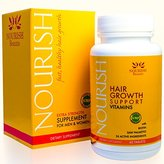 Nourish Beaute Hair Loss Supplement - With Biotin and Natural DHT Blockers - Faster, Thicker Hair Regrowth for Men and Women - 1 Month Supply