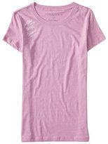 Aeropostale Womens Follow Me To The Beach Graphic T Shirt Purple