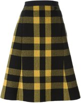 Maison Margiela checked A-line skirt