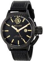Trafalgar Ballast Men's BL-3131-04 Machined Analog Display Swiss Quartz Brown Watch