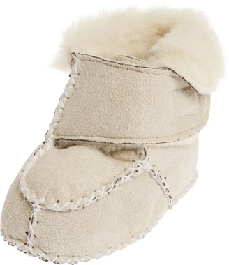 Playshoes Baby Newborn Wool Slippers Hook and Loop Crawling Shoes
