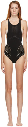 Stella McCartney Black Stellawear Racerback One-Piece Swimsuit
