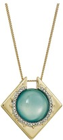 Alexis Bittar Crystal Encrusted Geometric Pendant Necklace Necklace