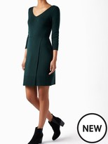 Monsoon Hannah Stitch Wrap Dress - Dark Green