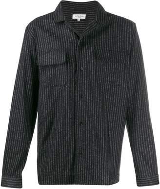 YMC striped mandarin collar shirt