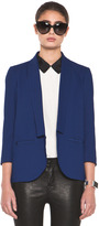 Band Of Outsiders Shawl Collar Blazer in Twilight Blue
