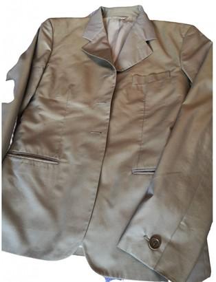 Romeo Gigli Camel Cotton Jacket for Women