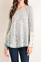 Entro Heathered Scoop Sweater