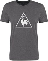 Le Coq Sportif Abrito Print Tshirt Dark Heather Grey
