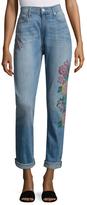 True Religion Printed Slim Fit Boyfriend Jeans