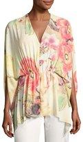 Natori Floral-Print Caftan Top, Multi
