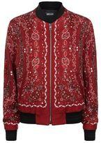 Just Cavalli Bandana Print Bomber Jacket