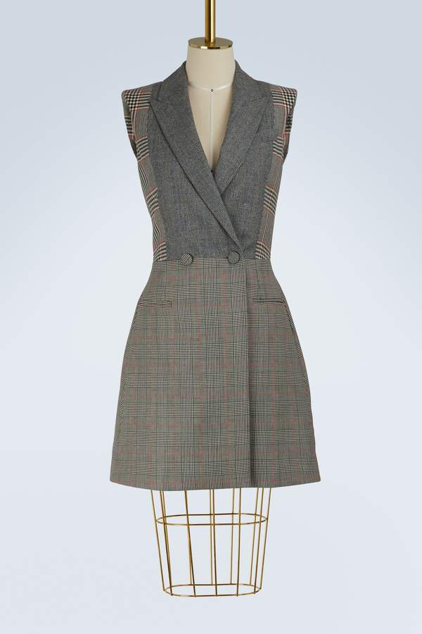 Alexander McQueen Wool tailored dress