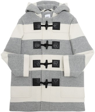Burberry Hooded Wool Blend Coat