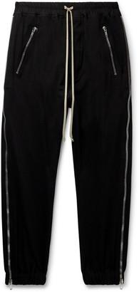 Rick Owens Zipped Cotton-Jersey Drawstring Sweatpants