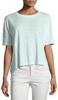 Eileen Fisher Round-Neck Short-Sleeve Box Top, Petite