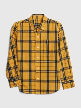 Gap Kids Plaid Button-Up Shirt