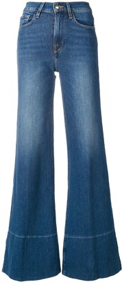 Frame Mid Rise Flared Jeans