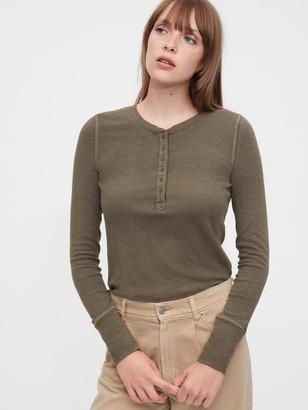 Gap Ribbed Henley T-Shirt