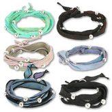 Bhati Beads Sterling Silver Silk Planet Wrap Bracelets