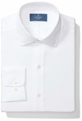 """Buttoned Down Classic Fit Solid Pocket Options Dress Shirt White) 18.5"""" Neck 36"""" Sleeve"""