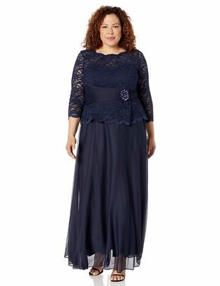 Cachet Women's Plus Size LACE Bodice Gown