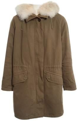 Army Khaki Rabbit Coats