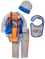 Puma Bodysuit, Jacket, Pant, Bib, & Hat Set (Baby Boys 0-9M)