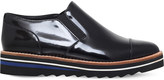 Vince Alona patent-leather Oxford shoes
