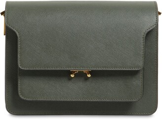 Marni MEDIUM SAFFIANO LEATHER TRUNK BAG