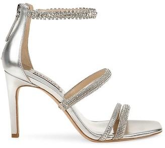 Badgley Mischka Zulema Embellished Ankle-Strap Sandals