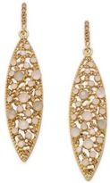 INC International Concepts Gold-Tone Pink Crystal Drop Earrings, Created for Macy's