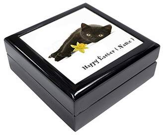 Black Cat Personalised Name Keepsake/Jewellery Box Christmas Gift