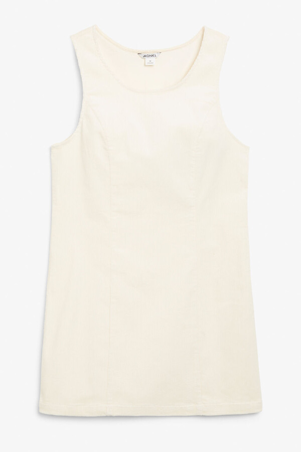 Monki Sleeveless corduroy dress