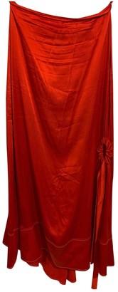 Ellery Red Silk Skirts