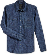 GUESS Men's Long-Sleeve Batik Shirt