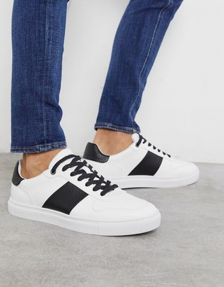 Ted Baker coppol sneakers in white leather